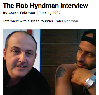 Rob Hyndman Interview by Loren Feldman