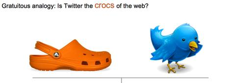 Twitter are the Crocs of the web