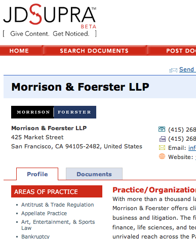 JD Supra screen shot
