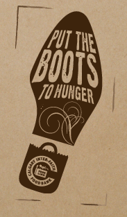 Put the Boots to Hunger logo
