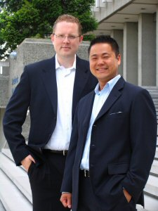 FiredWithoutCause's Jim Hamlin (left) and Chilwin Cheng (right)