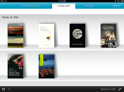 Kobo bookshelf