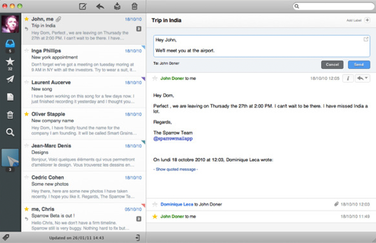 Sparrow A New Mail Client For The Mac Slaw