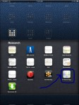 Screenshot of Research Folder on my iPad showing icon for customized HTML research page