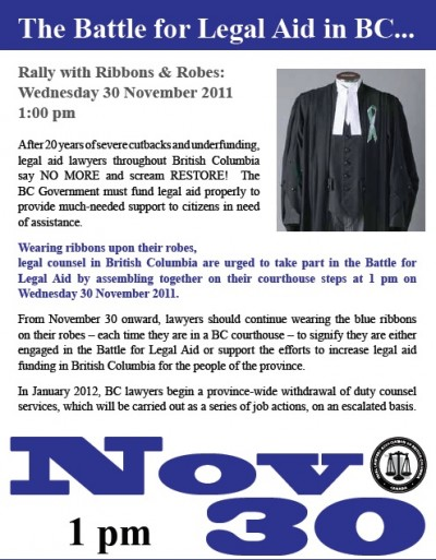 TLABC Rally in Robes Protest Poster