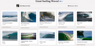 Pinterest: Great Surfing Waves from David Meerman Scott