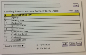Leading Resources on a Subject Term Index