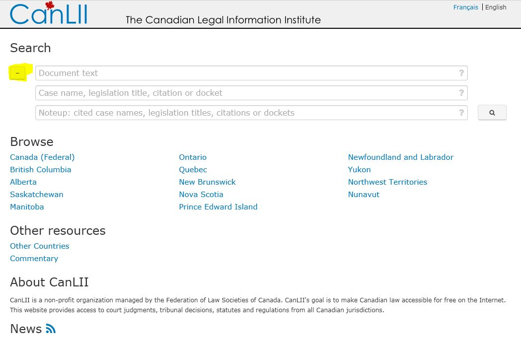 Advanced Search Techniques Using CanLII and Westlaw