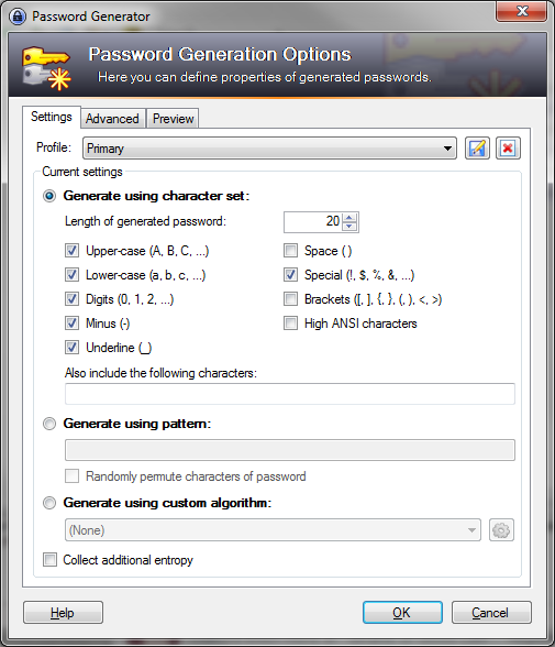 keepass-primary-password-customization