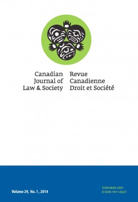 Canadian Journal of Law and Society cover art
