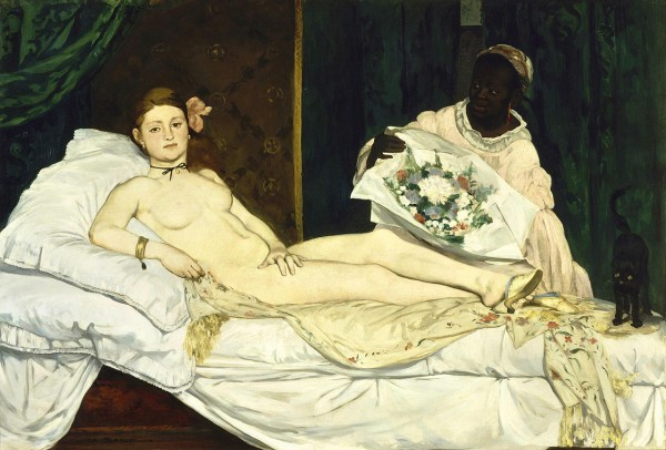 Édouard Manet's Olympia (1863), one of the few early Impressionist paintings to be accepted to the Salon.