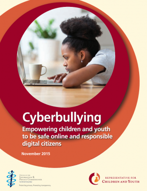 Cover of Cyberbullying Empowering children and youth to be safe online and responsible digital citizens