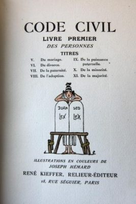 Picturing the Law, Part Two: Collecting Illustrated French Law Codes